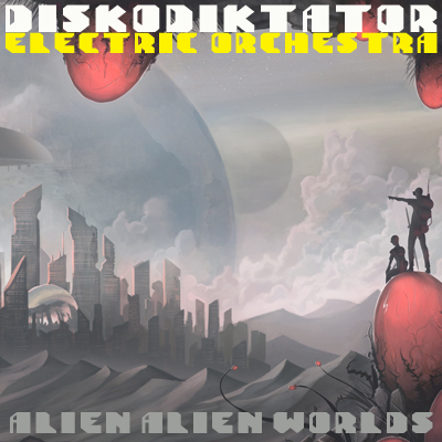 "The alien cover for the cover album ""Alien Alien Worlds""."